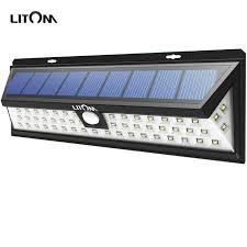 litom solar lights outdoor litom 54 led solar lights night lion motion sensor waterproof