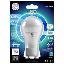 gu24 base led light bulb ge led soft white general purpose gu24 base bulb walmart com