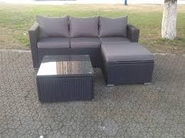 Rattan Garden Furniture Sofa Sets 5 Seater Black Rattan Garden Furniture Sofa Set Table And Chairs