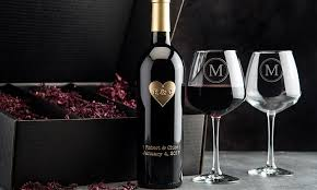 wine sets wine bottle gift set etchedwine groupon