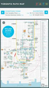Path Subway Map by Survey To Improve Path360 Map Concept Design Toronto Financial