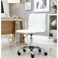white upholstered office chair porch den beacon hill myrtle swivel mid back armless ribbed task