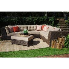 Wicker Sectional Patio Furniture - home decorators collection naples all weather dark grey wicker