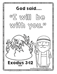 Moses Bible Printables Bible Coloring Pages Moses