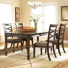 Dining Room Extension Table by Ashley D480 35 Hayley Dark Brown Finish Dining Room Extension Table