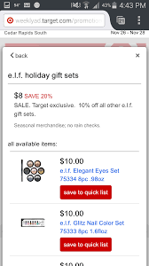 target black friday sale preview today only e l f holiday sets sale at target com during black