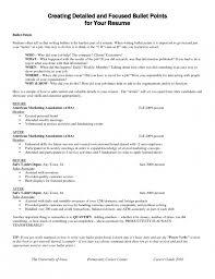 resume bullet points resume bullet points