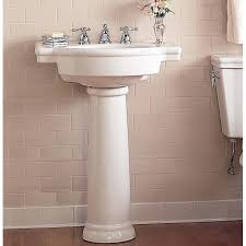 american standard retrospect 27 pedestal bathroom sink with overflow reviews wayfairamerican instructions home depot town square