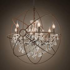chandeliers orb crystal chandelier restoration hardware black