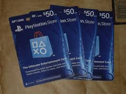 ps4 gift card lot of 4 50 us playstation network store psn gift card ps3 ps4 ps