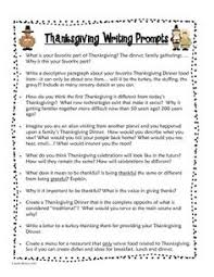 thanksgiving writing assignments middle school