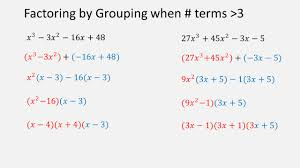 6 factoring by grouping when terms 3