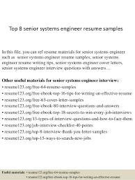 best cv format for engineers pdf converter top 8 senior systems engineer resume sles 1 638 jpg cb 1428673402