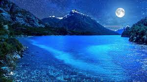 relaxing blue relaxing deep sleep music with ambient blue nightlight