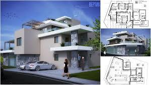 D House Plan With A Terraces Design - 3d design home