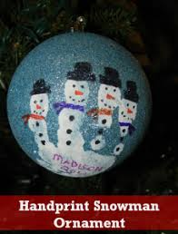 handprint snowman ornament so for the crafts