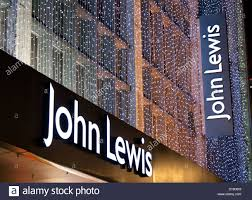 john lewis department store signs with christmas lighting stock