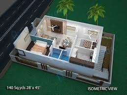 2bhk house design plans way2nirman 140 sq yds 28x45 sq ft west face house 2bhk elevation