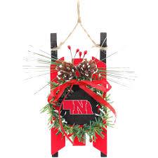 nebraska cornhuskers wood sled ornament fanatics