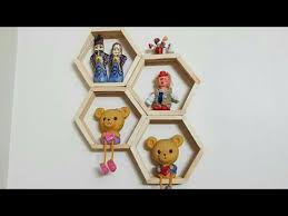 Diy Honeycomb Shelves by Diy Honeycomb Shelves From Popsicle Sticks Hexagon Popsicle