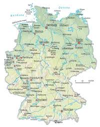 geographical map of germany physical map of germany size