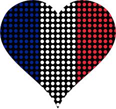 clipart heart france flag circles