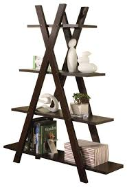 coaster bookshelf contemporary cappuccino