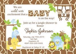 safari jungle shower invitations baby shower custom invitations