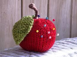 Pin Cushion Tree Apple Knitting Pattern Tutorial Natural Suburbia