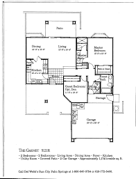 Del Webb Floor Plans by Floor Plans Sun City Palm Desert Homes
