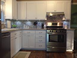 small kitchen design with calm gray wall excellent home interior