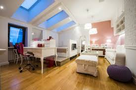 Bedroom Office by Bedroom Office And Hangout Space In Attic Featuring Semi Exposed