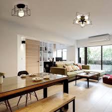 semi flush dining room light modern mini five head star ceiling lamp metal semi flush mount