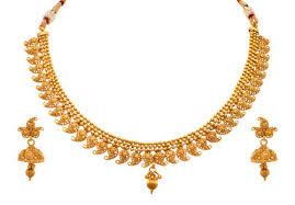 earring necklace set images Jfl gold gold plated kaerie necklace set with earring size 9 5 jpg