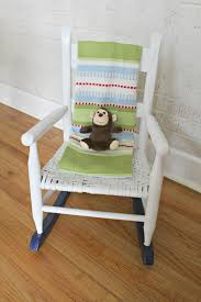 Baby Room Rocking Chairs Ten June Multi Colored Spray Painted Rocking Chair A Nursery Diy