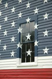 How Many Stars In The Us Flag American Flag Painted On Barn Stars Right Over The Windows