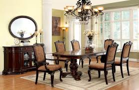 furniture of america brown cherry georgetown 7 piece formal dining set