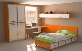 teenage bedroom design ideas with study area and practical book