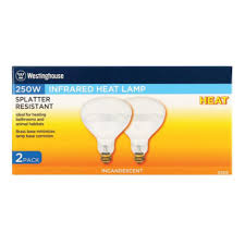 250w infrared heat l westinghouse 250w infrared heat l 2 pk by westinghouse at