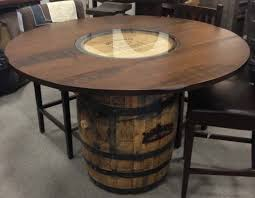 whiskey barrel bar table whiskey barrel furniture for sale designing home 12162 whiskey
