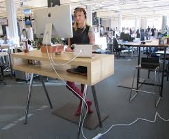 diy standing computer desk convert to a standing computer desk