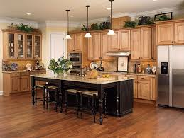 kitchen color ideas with oak cabinets and black appliances mpl honey chocolate wmiland island1 custom kitchen
