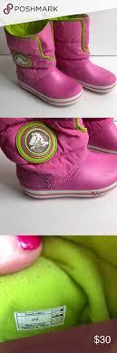 crocs light up boots crocs winter boots pink sz 13 light up detail crocs shoes crocs