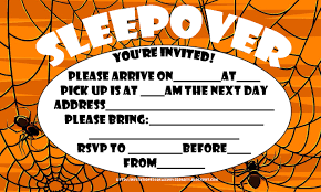 halloween sleepover invitations u2013 festival collections