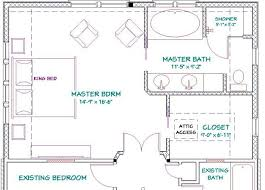 Addition Floor Plans | master bedroom addition floor plans with fireplace free bathroom