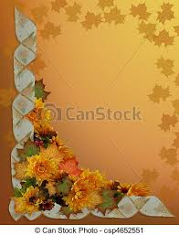 clipart of thanksgiving autumn fall border image and