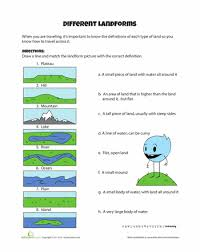 different landforms worksheets printables and free printables