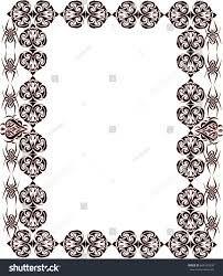 Decorative Spiders Decorative Gothic Frame Spiders Abstract Hearts Stock Vector