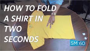 How to fold a shirt in under 2 seconds 2 easy options