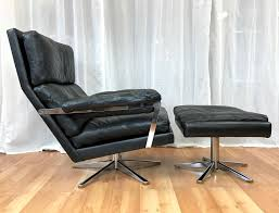 Vintage Ottoman by Vintage Swedish Leather Lounge Chair And Ottoman Past Perfect